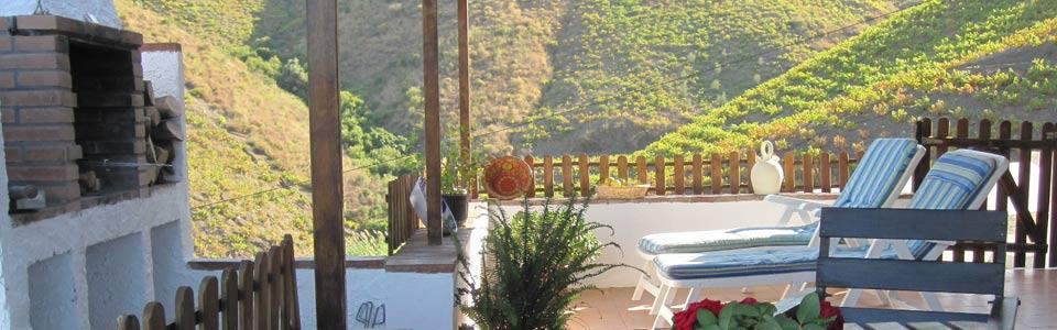 Terras met uitzicht Landhuis Finka La Palma