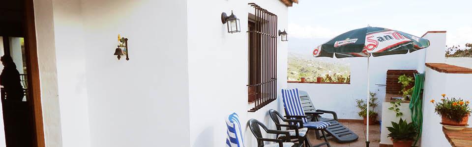 Casa Arroyo de la Palma, terras voorzijde
