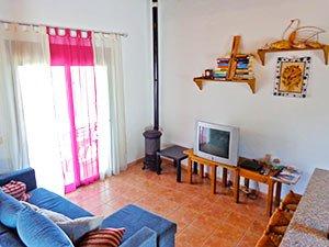 Vakantiehuis Arroyo de la Palma Andalusie woonkamer fijne vakantie woning in Andalusië
