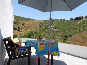 Terrasje vakantiehuis Finca la Palma