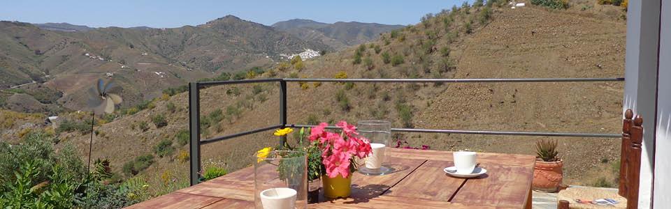het terras van het vakantiehuis