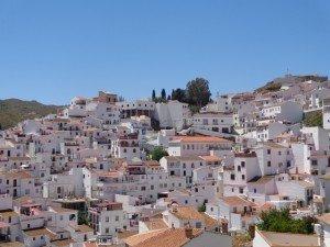 deel van het dorp Almachar