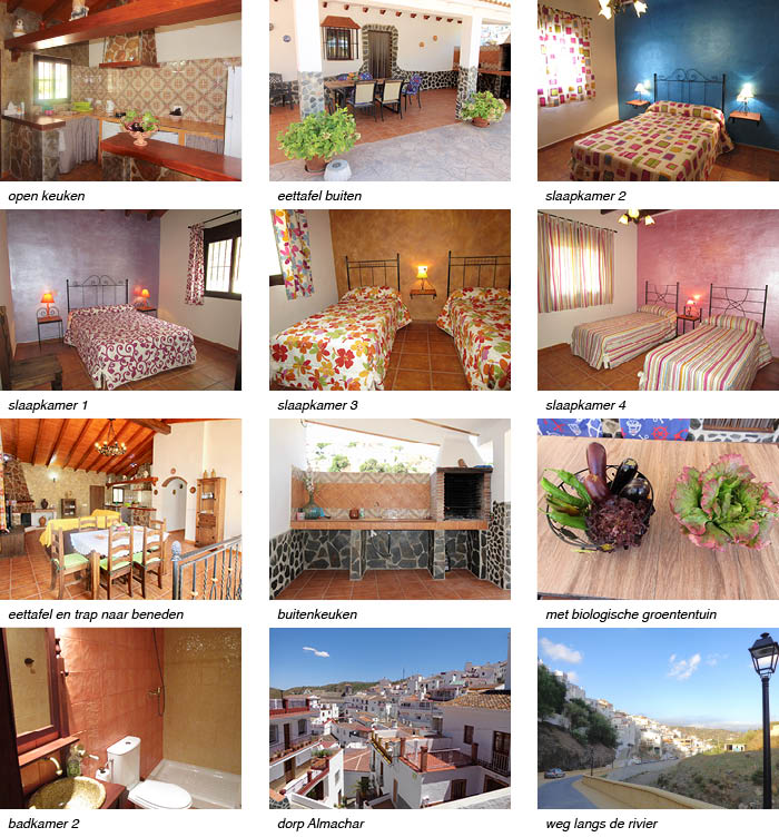 Casa Claudia, indeling van het vakantiehuis in Andalusie strip onder