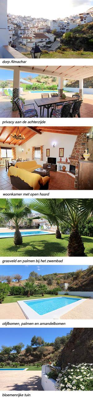 Casa Claudia, indeling van het vakantiehuis in Andalusie strip rechts