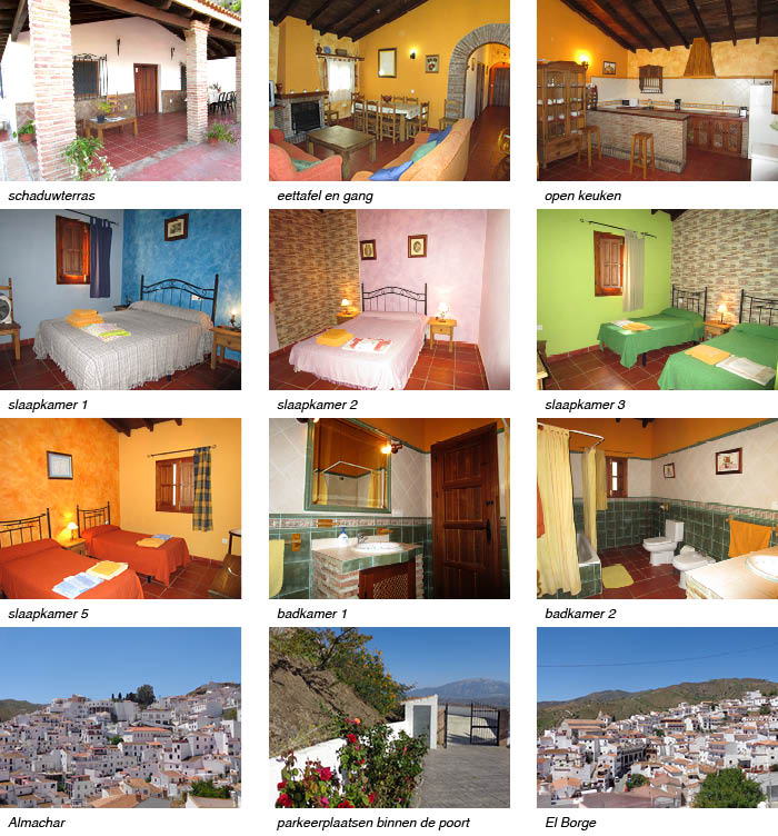 Casa Lagar, indeling van het vakantiehuis in Andalusie strip onder