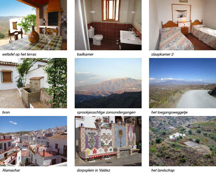 Casa Maroma, indeling van het vakantiehuis in Andalusie strip onder