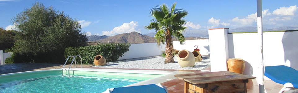 heerlijk zwembad bij het vakantiehuis