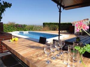 barretje bij het prive zwembad - Villa Benamargosa