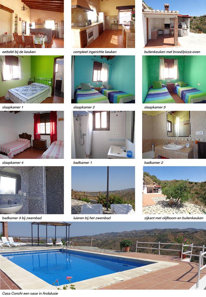 vakantiehuis Casa Conchi, indeling van het vakantiehuis in Andalusie strip onder