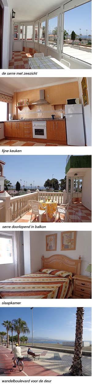 appartement FLORIDA FLOR indeling van het appartement in Andalusie strip rechts