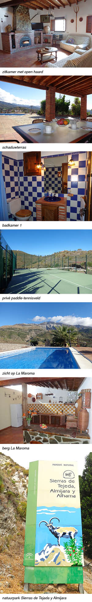 Vakantiehuis Finca Marta Andalusie, strip rechts