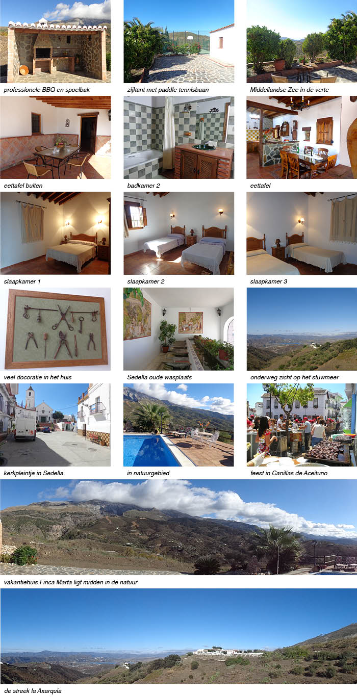 Vakantiehuis Finca Marta Andalusie