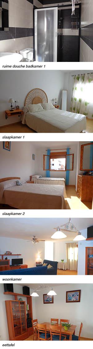 appartement Tita Andalusie, strip rechts