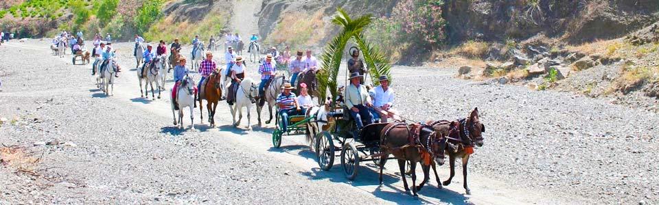 El Borge - op weg naar het feestterrein