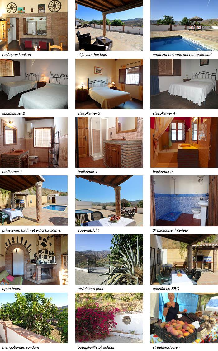 Villa la Sierra interieur en omgeving onder