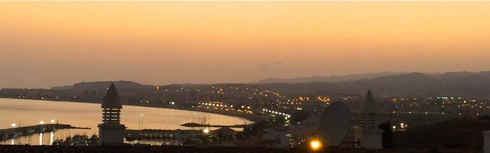 appartement Caleta uitzicht vanaf het terras
