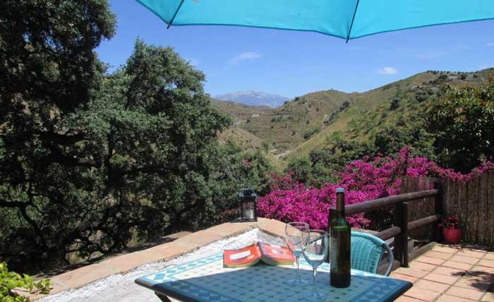 paradijselijk plekje bij de bron schuin onder het huis Casa Rio van EchtAndalusie