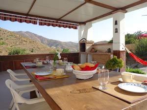 super terras voor het vakantiehuis