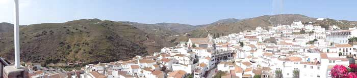 vanaf uw balkon El Borge in de ochtendzon