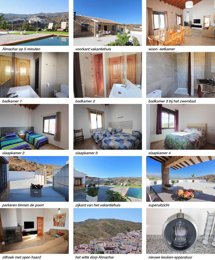 vakantiehuis Casa Salvalex interieur, tuin en omgeving onder