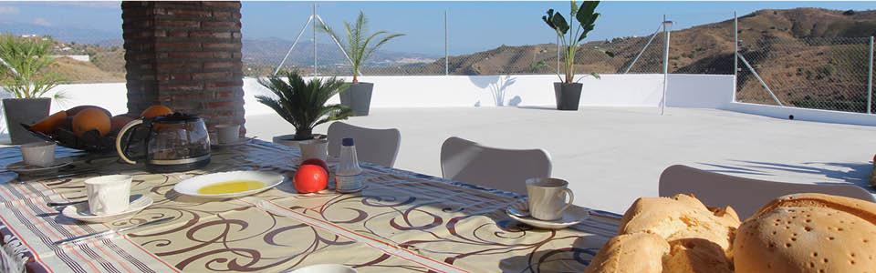 vakantiehuis Casa Salvalex - ontbijten met uitzicht