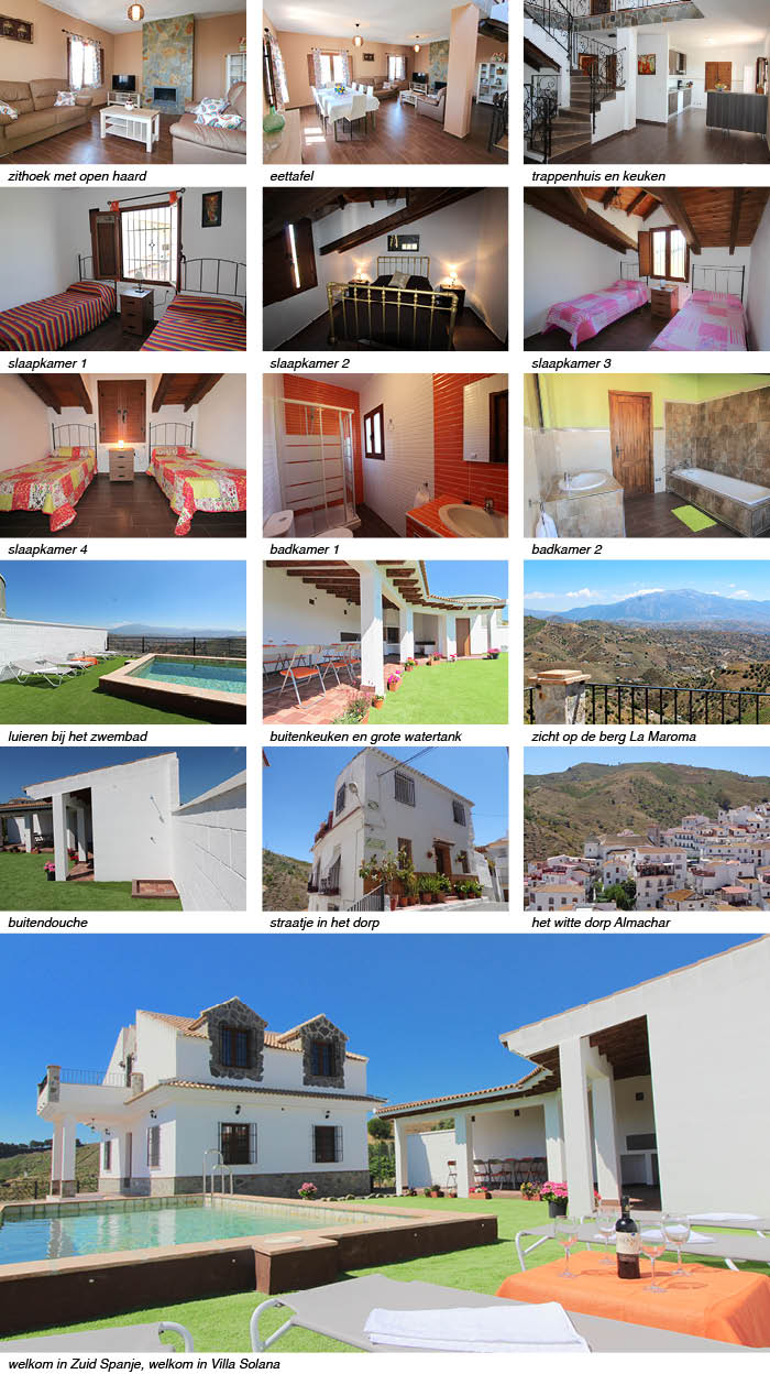 vakantiehuis Villa Solana interieur terras omgeving