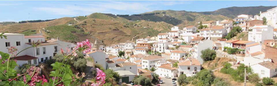 uw uitzicht op het witte dorpje