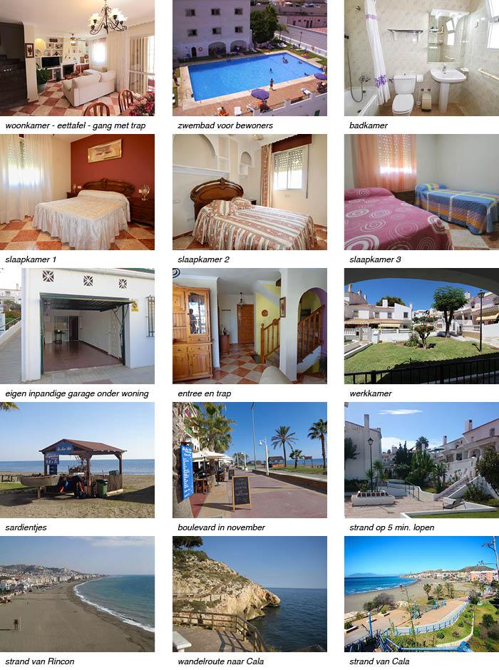 Casa Marino, indeling van het vakantiehuis in Andalusie strip onder