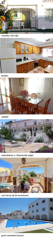 Casa Marino, indeling van het vakantiehuis in Andalusie strip rechts