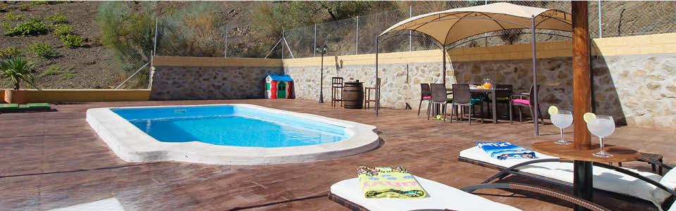 prive zwembad vakantiehuis Andalusie
