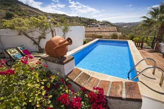 Cortijo Lagar de Luisa met huisjes in La Axarquia Andalusie met zwembad - Cortijo Lagar de Luisa