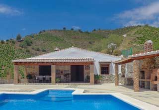 Vakantiehuis Andalusie met airco zwembad op loopafstand van dorp El Borge - Casa Hugo