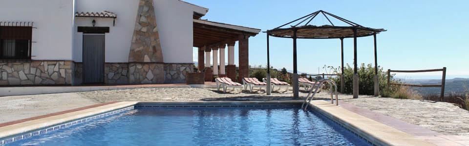 Vakantiehuis Andalusie royale buitenruimte en zeezicht