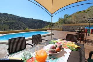 Vakantiehuis natuurhuisje met zwembad in Andalusie Vinuela - Casa Clara