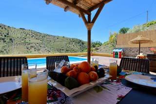 vakantiehuis Vinuela Andalusie met zwembad