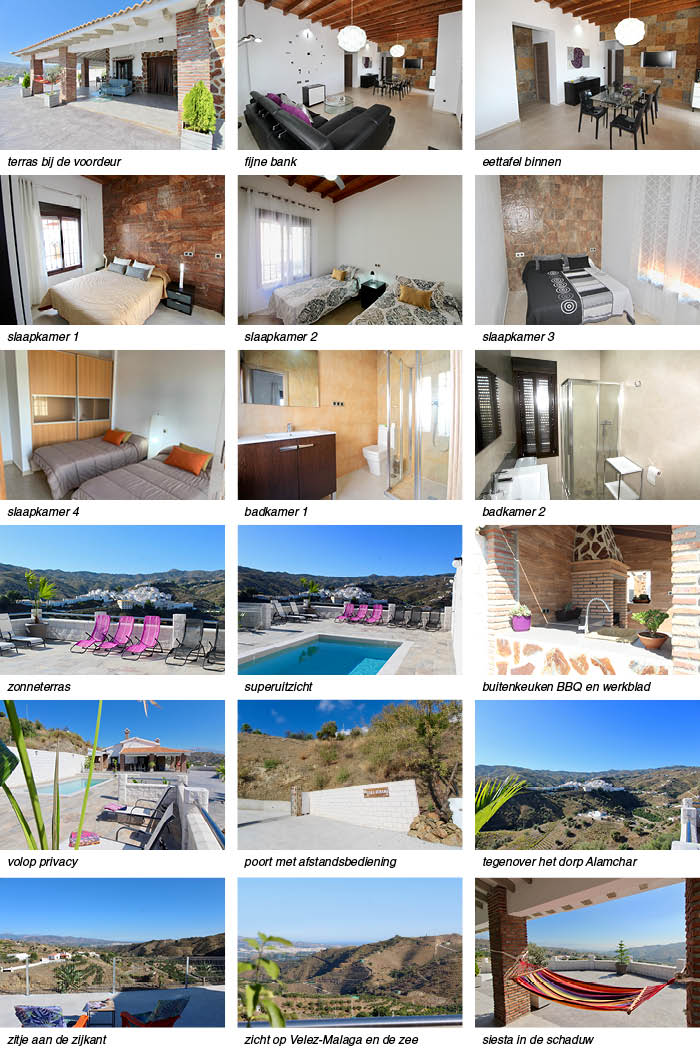 vakantiehuis andalusie zicht op zee