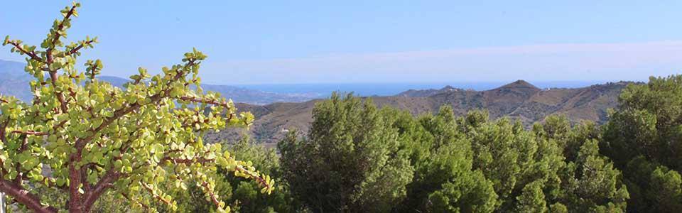 Uitzicht op zee bij vakantiehuis Monica